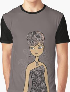Grey Girl Graphic T-Shirt