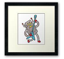 Robot Rock! Framed Print