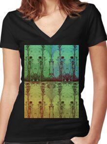 Celadon Women's Fitted V-Neck T-Shirt
