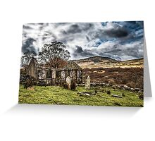Trefriw abandoned Chapel  Greeting Card