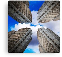 construction of residential buildings Canvas Print