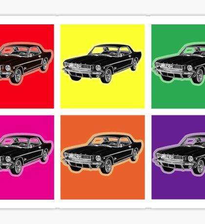 Warhol Mustangs Sticker