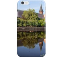 river landscape with cathedral iPhone Case/Skin