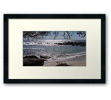 Honeysuckle Point, Beecroft Peninsula, Jervis Bay, NSW Framed Print
