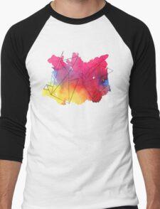 Paper Crane Watercolour Men's Baseball ¾ T-Shirt