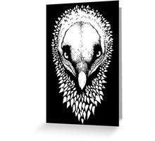 Black&White Bearded Vulture Greeting Card