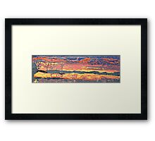 Lava sunset: flow and glow Framed Print