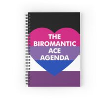 Biromantic Ace Agenda Spiral Notebook
