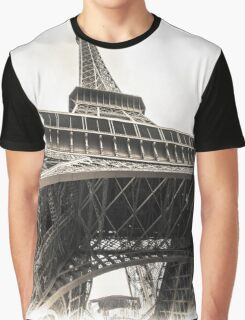 Eiffel Tower From Below - Paris Graphic T-Shirt