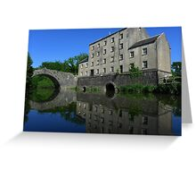 Blackpool Mill From The River Greeting Card