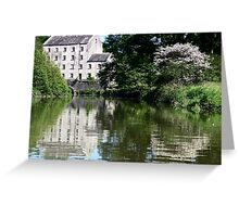 Blackpool Mill From The Canoe Greeting Card