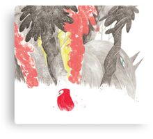 Hey lil' red Canvas Print