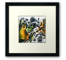 Eye of the leopard Framed Print