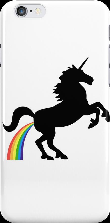 Unicorn Rainbow Poo (black design) by jezkemp
