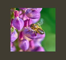 Bee descending on a lupin Unisex T-Shirt