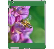Bee descending on a lupin iPad Case/Skin