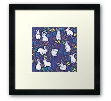 White rabbits Framed Print