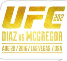 Diaz VS McGregor UFC202 Sticker