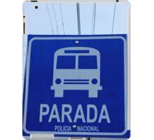Blue Bus Stop Sign iPad Case/Skin