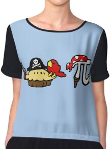 Pie and Pi Pirates Chiffon Top