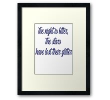 The Man That Got Away  Framed Print