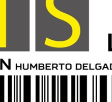 Destination Lisbon Airport Sticker