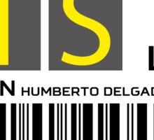 Destination Lisbon Airport Sticker