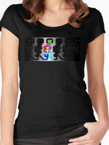 A little bit of MYSTERY Women's Fitted Scoop T-Shirt