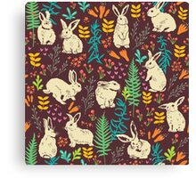 White rabbits Canvas Print