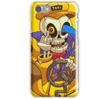 Skeleton Taxi Driver iPhone Case/Skin