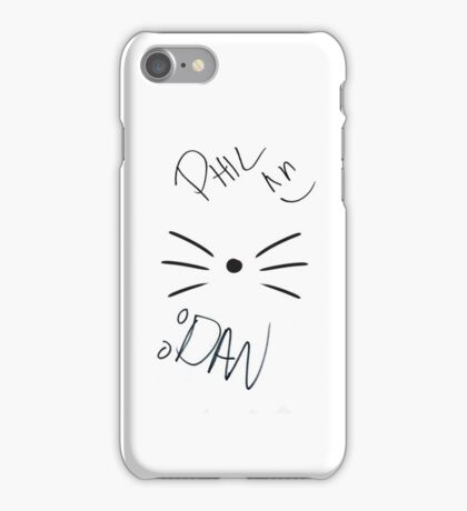 Dan and Phil Cat Wiskers Case iPhone Case/Skin