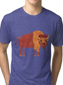 B is for Bison Tri-blend T-Shirt