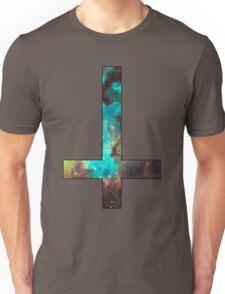 Green Galaxy Inverted Cross Unisex T-Shirt
