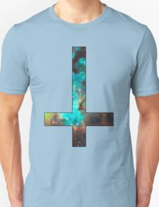 Green Galaxy Inverted Cross Unisex T-Shirt