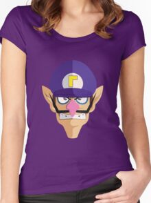 Waluigi Women's Fitted Scoop T-Shirt