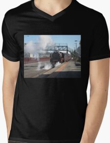 R Class Loco at Echuca Station Mens V-Neck T-Shirt