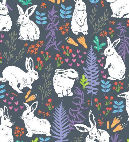 White rabbits Sticker