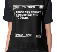 Progress Report: I am Missing You to Death (Black) Chiffon Top