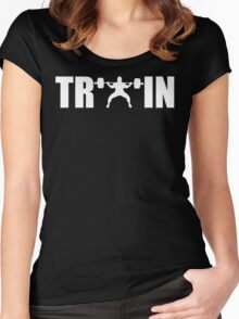 TRAIN (Squat) Women's Fitted Scoop T-Shirt