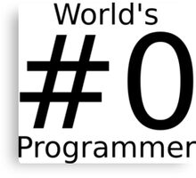 World's number zero programmer Canvas Print