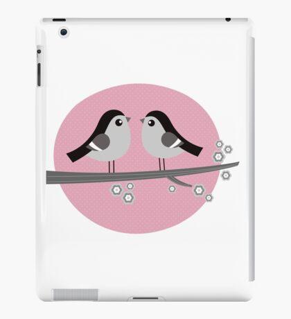Cute monochrome love Birds iPad Case/Skin