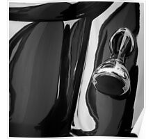 Abstract Reflection BW SQ - Vehicle Poster