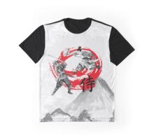 Samurai Warriors (mountain background) Graphic T-Shirt