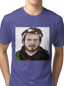 tutorial vector portrait  Tri-blend T-Shirt