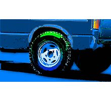 Retro Truck Wheel Photographic Print