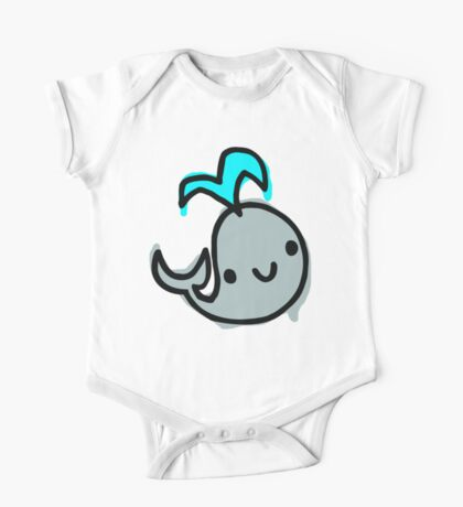 Super Happy Whale One Piece - Short Sleeve