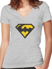 DCc Mash Up 2 Women's Fitted V-Neck T-Shirt