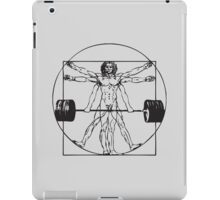 Vitruvian Barbell Man iPad Case/Skin