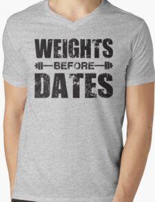 Weights Before Dates Mens V-Neck T-Shirt