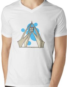 Dubai Clock Tower Mens V-Neck T-Shirt